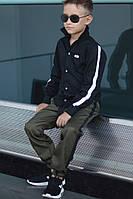 Стильные универсальные брюки для мальчиков оливка, фото 1