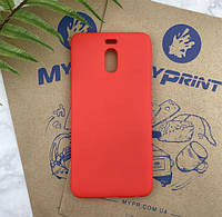 Чехол силиконовый для Meizu M6 Note красный (4744)