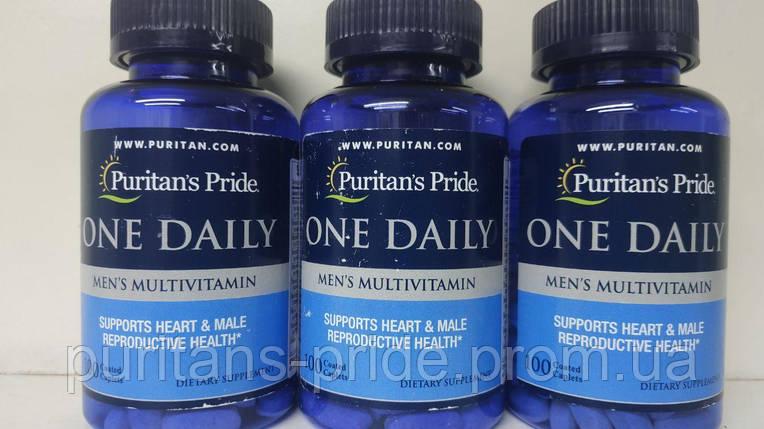 Вітаміни для чоловіків, Puritan's Pride One Daily men's 100 Caplets, фото 2