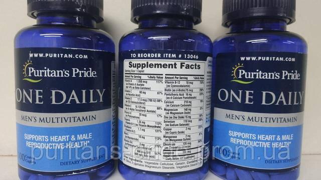 Пуританс прайд витамині він дейлі менс мультивитаминс 100 таблеток