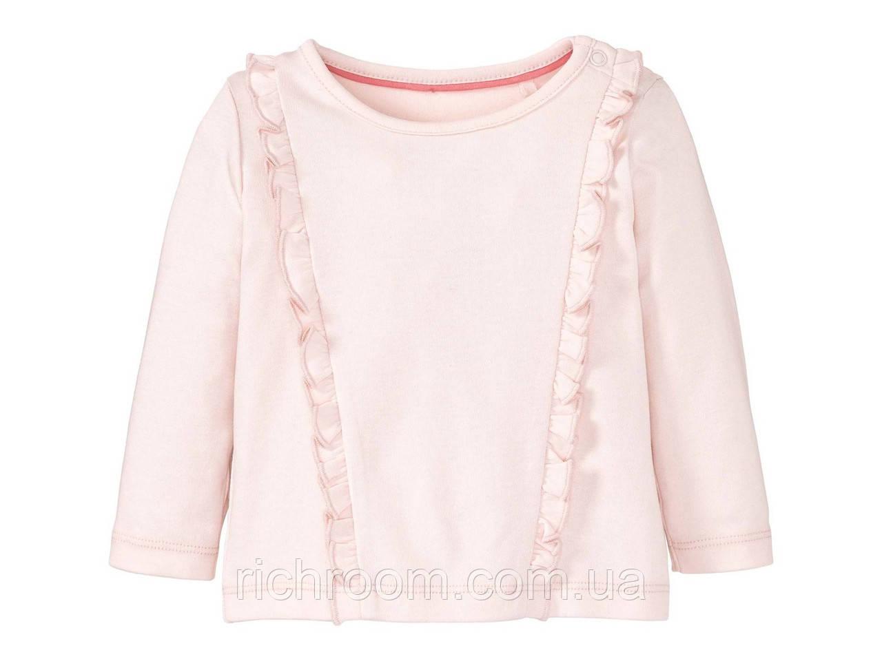 Лонгслив,кофточка для дівчинки Lupilu Pure Collection, футболка з довгими рукавами реглан