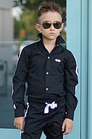 Черная рубашка на мальчиков Fashion, фото 1
