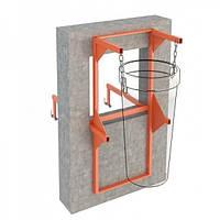 Рама-кронштейн вертикальная для мусоросброса