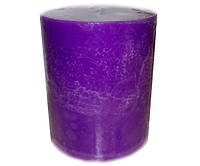 Свеча 105*300 мм в форме цилиндра. Цвет сиреневый.