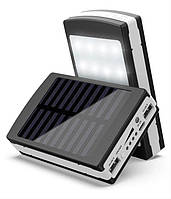 Power Bank 100000 mAh с солнечной панелью и LED лампой