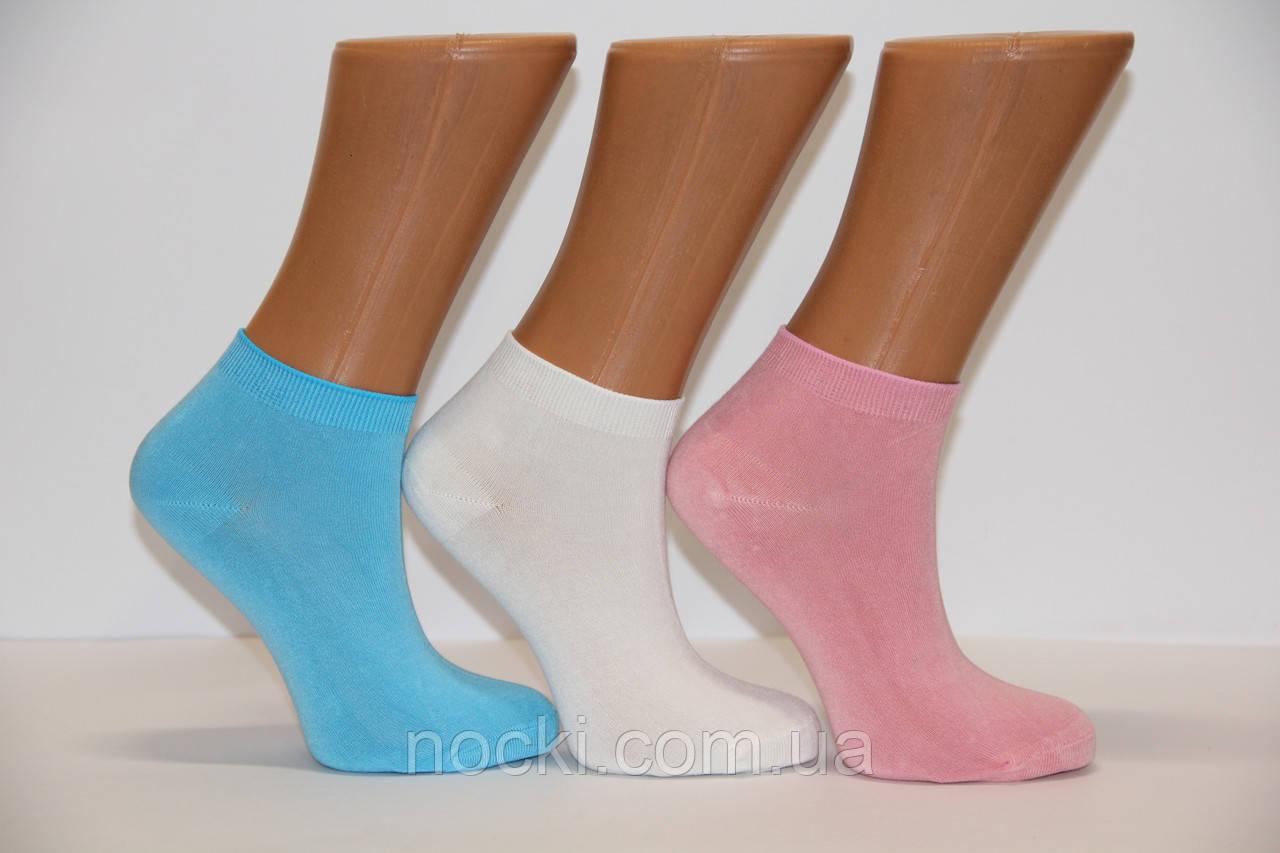 Женские носки короткие с бамбука Ф14 36-40 ассорти