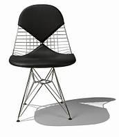 Стул металлический Майя ( Eames DKR Chair ) с черной подушкой