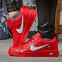 Кроссовки женские кожаные Найк Nike Air красные