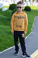 Детский костюм унисекс Вайкики черный с горчицей, фото 1