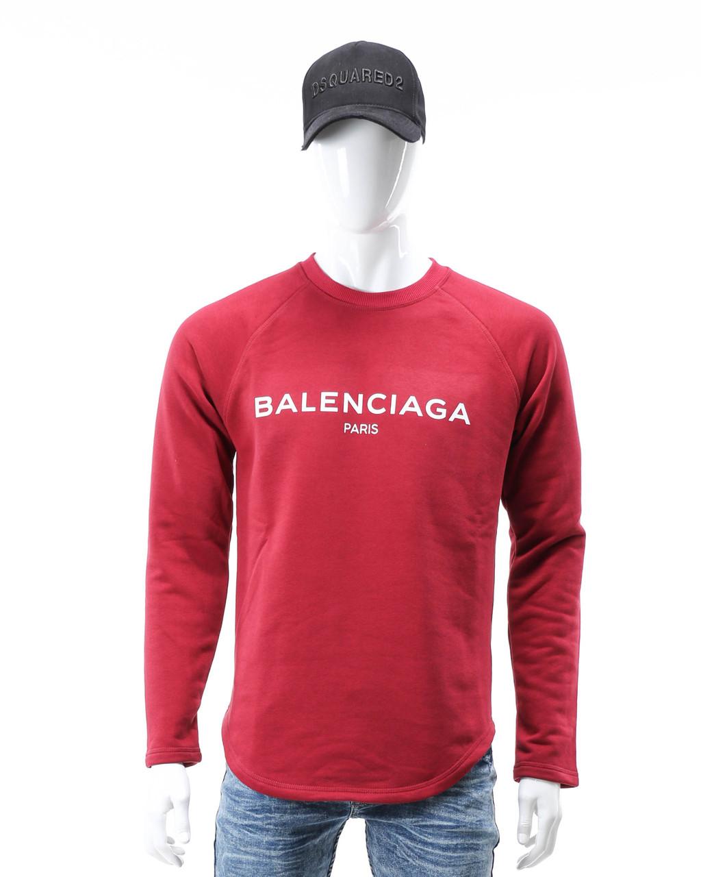 Свитшот бордо BALENCIAGA с лого Р-2 BOR L(Р) 20-510-201