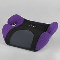 Бустер детский автомобильный JOY 79129 Черный с фиолетовым, группа 2/3, вес ребенка 15-36 кг 11/9