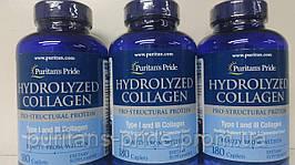 Колаген гідролізат, Puritan's Pride Hydrolyzed Collagen 1000 mg 180 Caplets