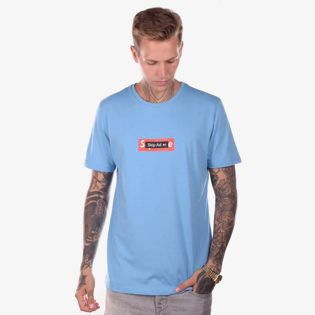 Футболка мужская SKIP AD голубая