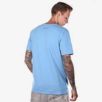 Футболка мужская SKIP AD голубая, фото 2