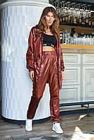 Прогулочный женский нейлоновый костюм из ветровки и штанов (Девис jd)