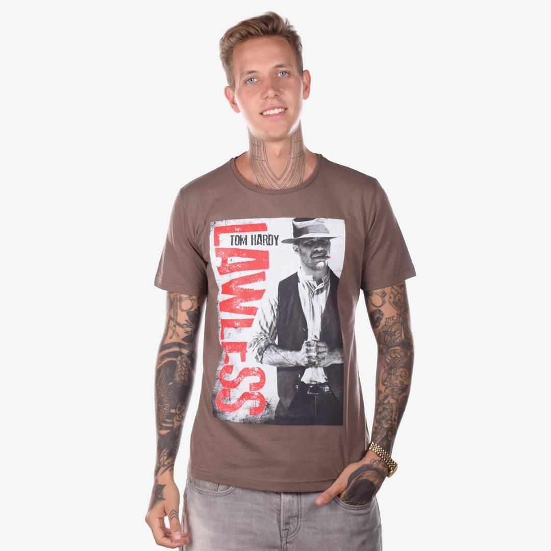 Футболка мужская LAWLESS коричневая