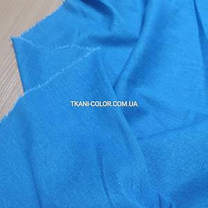 Ткань лён стрейч голубая бирюза