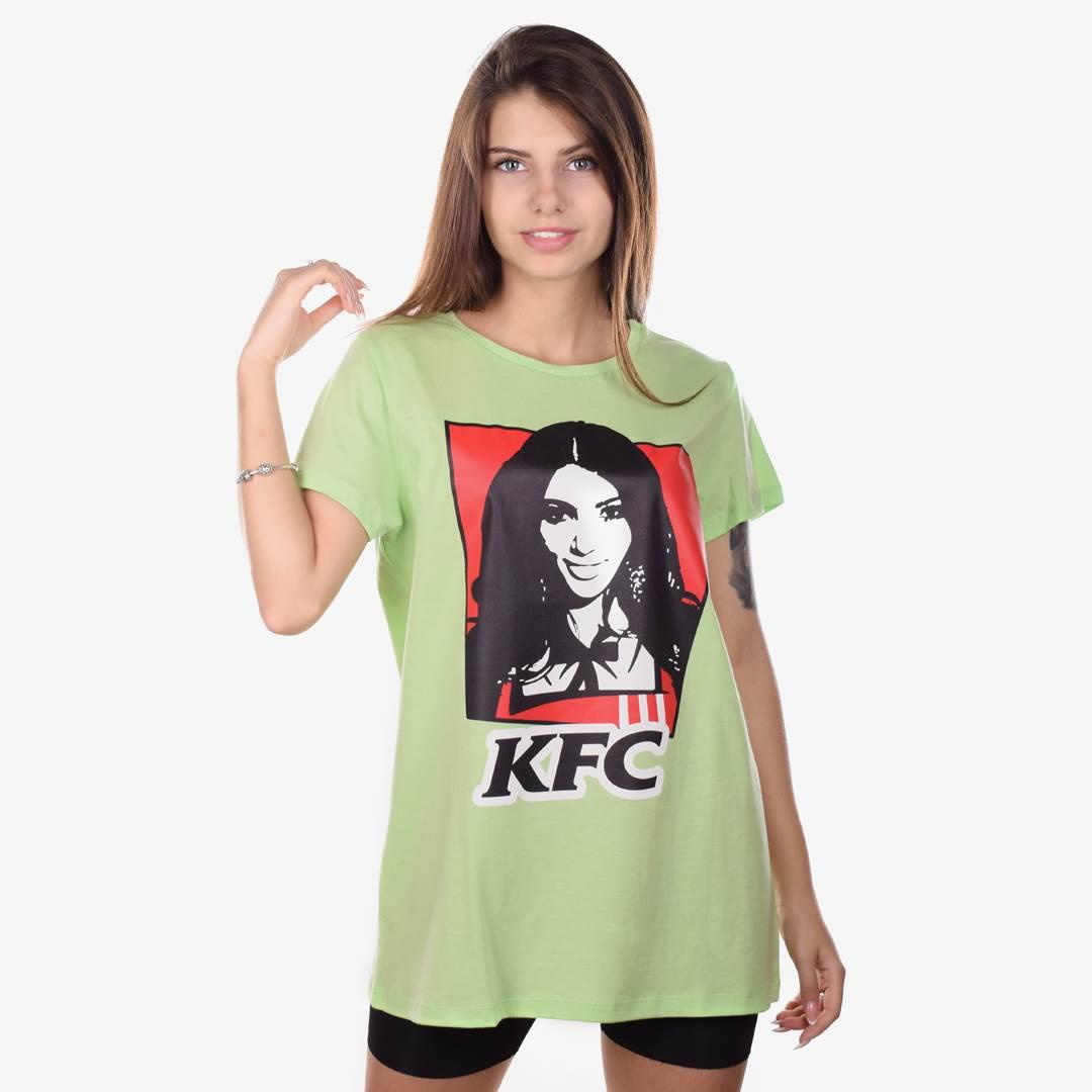 Футболка женская KFC салалтовая