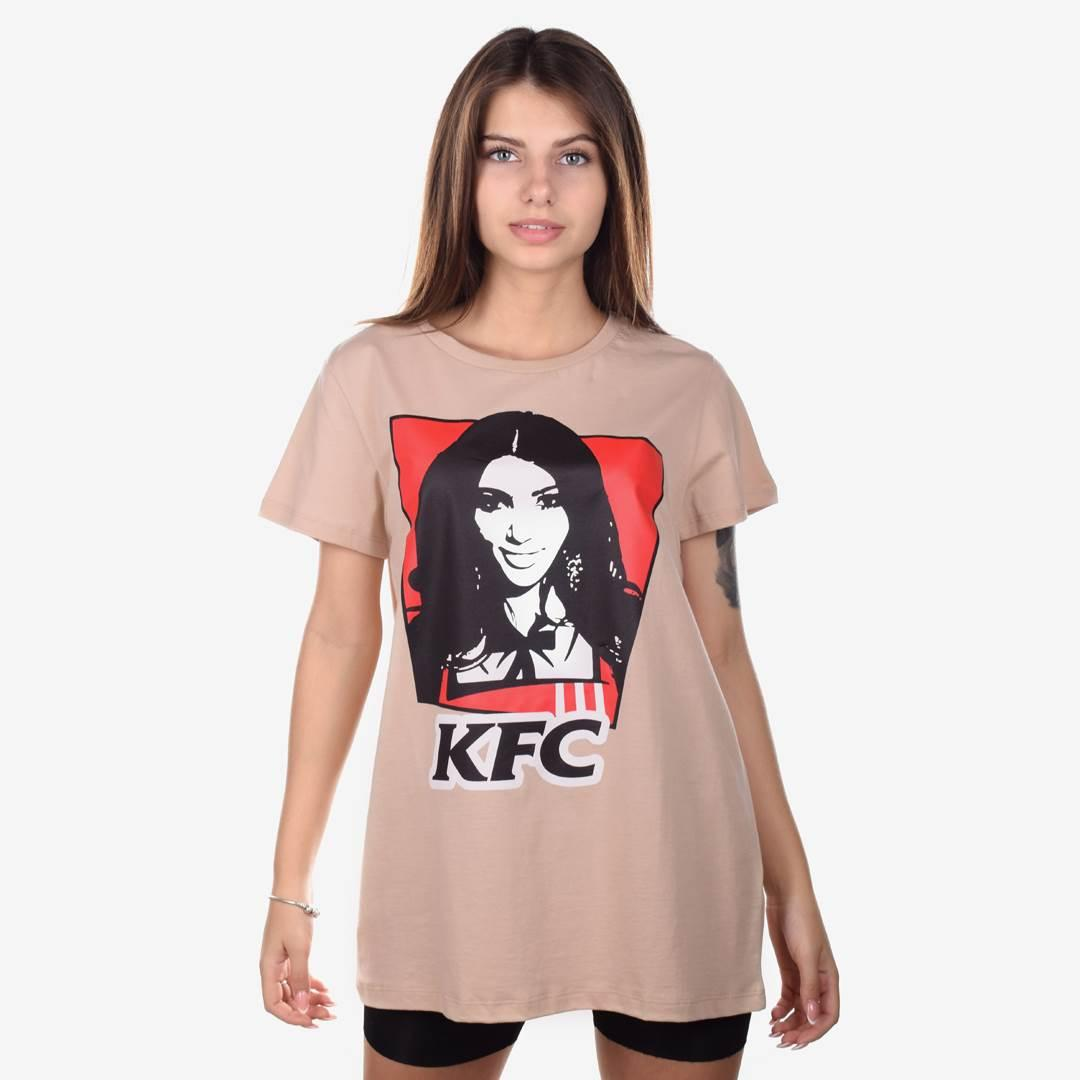 Футболка женская KFC бежевая