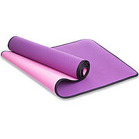 Коврик для фитнеса и йоги гимнастический с кантом SP-PLANETA 183 x 61 x 0,6 см Фиолетовый (FI-1772)