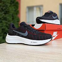 Женские кроссовки в стиле Nike Zoom Pegasus чёрные с красным