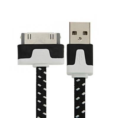 USB кабель в тканевой оплетке 30 pin 1 м., фото 2