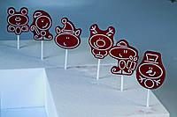Форма для конфет на палочке новогодние звери Martellato 20-C024 60x70 мм