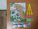 Алмазная мозаика Гулівер країна Сиреневый корзина (JA20875, частичная выкладка) (GU_188651) 21 х 25 см (Без подрамника), фото 8
