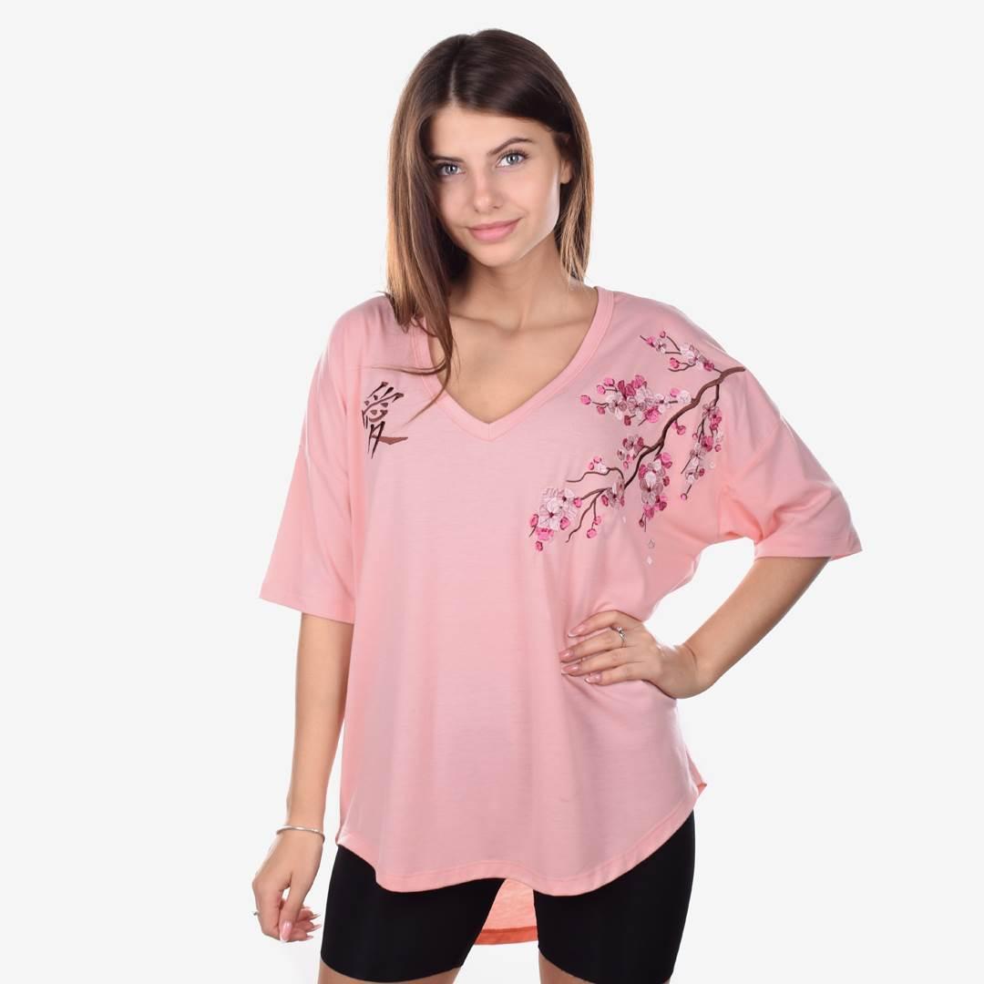 Футболка женская SAKURA розовая