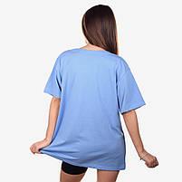 Футболка женская DARK SIDE голубая, фото 2