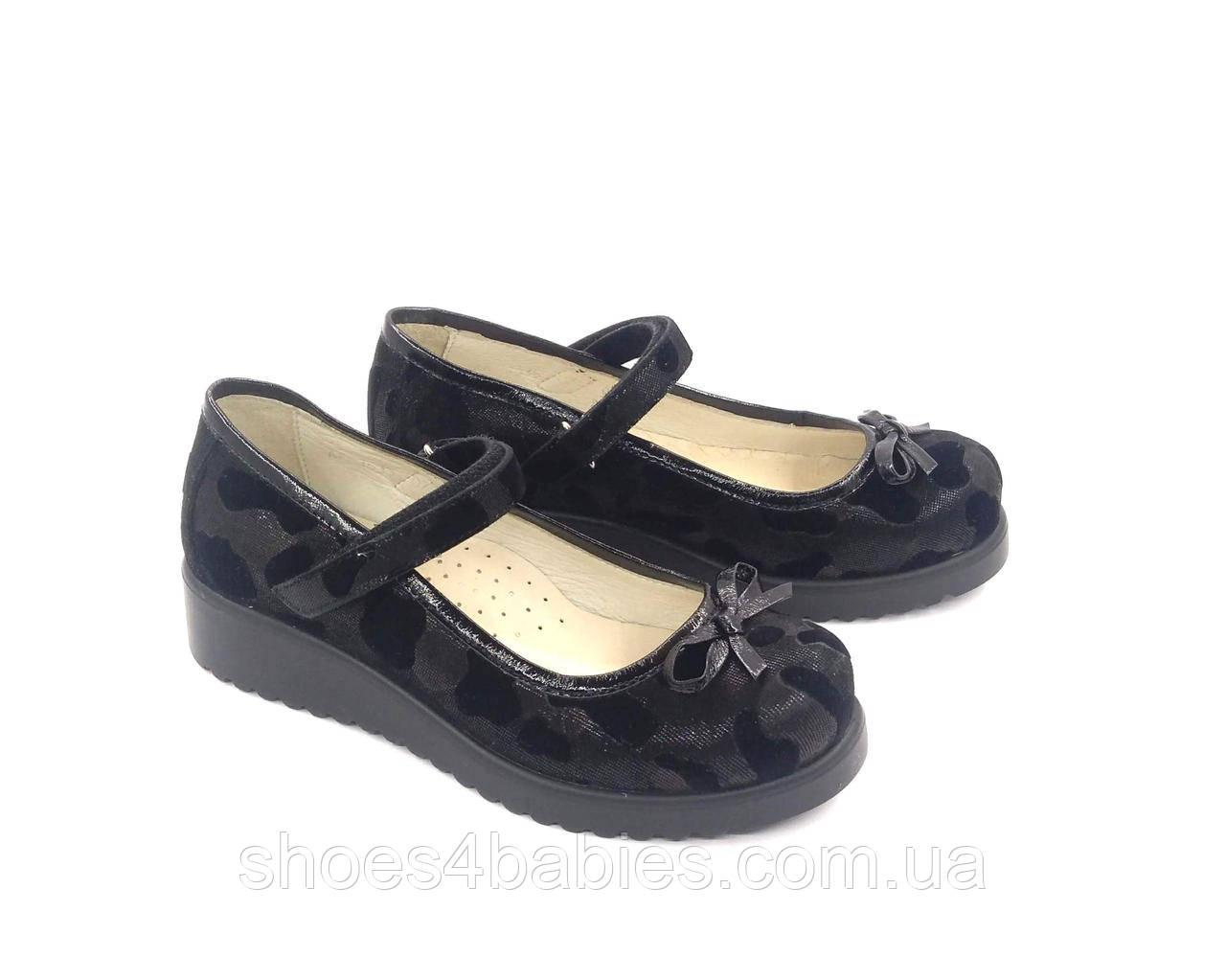 Туфли для девочки р. 31, 34, 35 TM FS кожаные черные