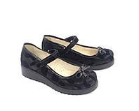 Туфли для девочки р. 31, 34, 35 TM FS кожаные черные, фото 1