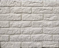 Бетонна декоративна плитка Loft brick white ТМ Stone master (уп. 0,56 м2)