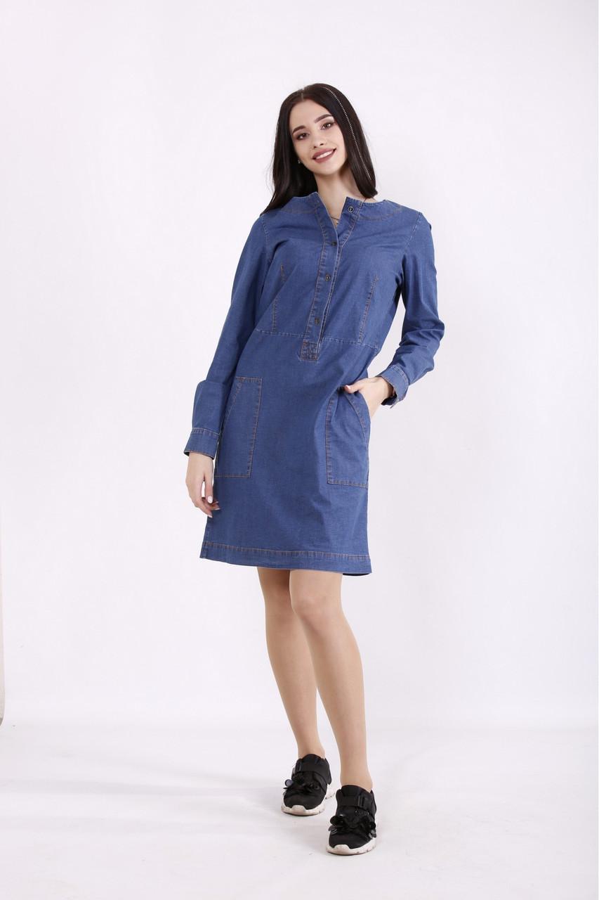 Платье женское джинсовое размеры:42-74