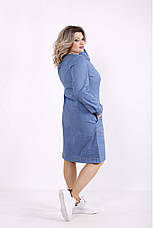 Платье женское джинсовое размеры:42-74, фото 2