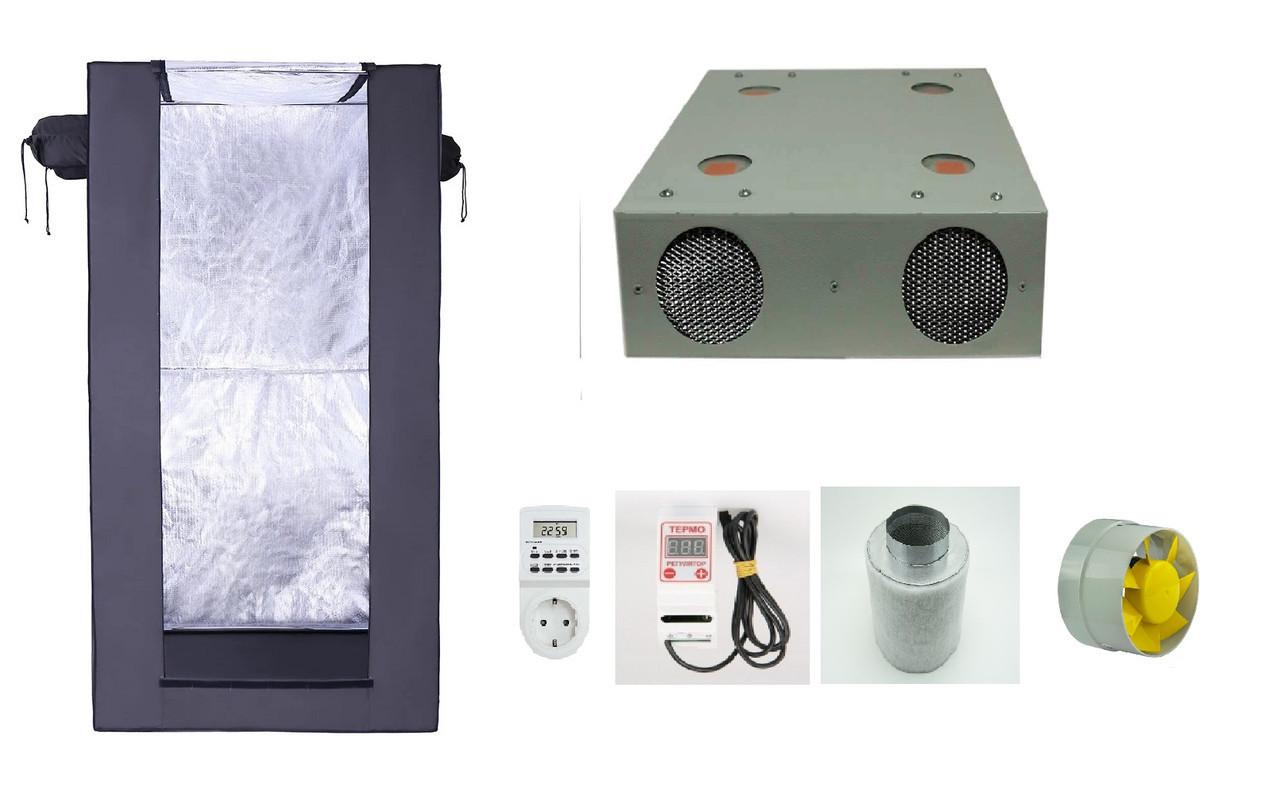 ГроуБокс Growbox Джин 800*800*1600 в сборе с лампой Гагарин 2 и вентиляция
