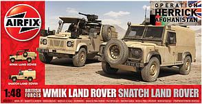 British Forces WMIK Land Rover - Snatch Land Rover. Сборная модель 2 в 1. 1/48 AIRFIX 06301