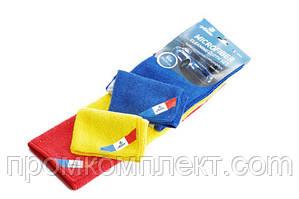 Набор салфеток из микрофибры 35х35 см (синяя, желатя, красная) 12 Atelie