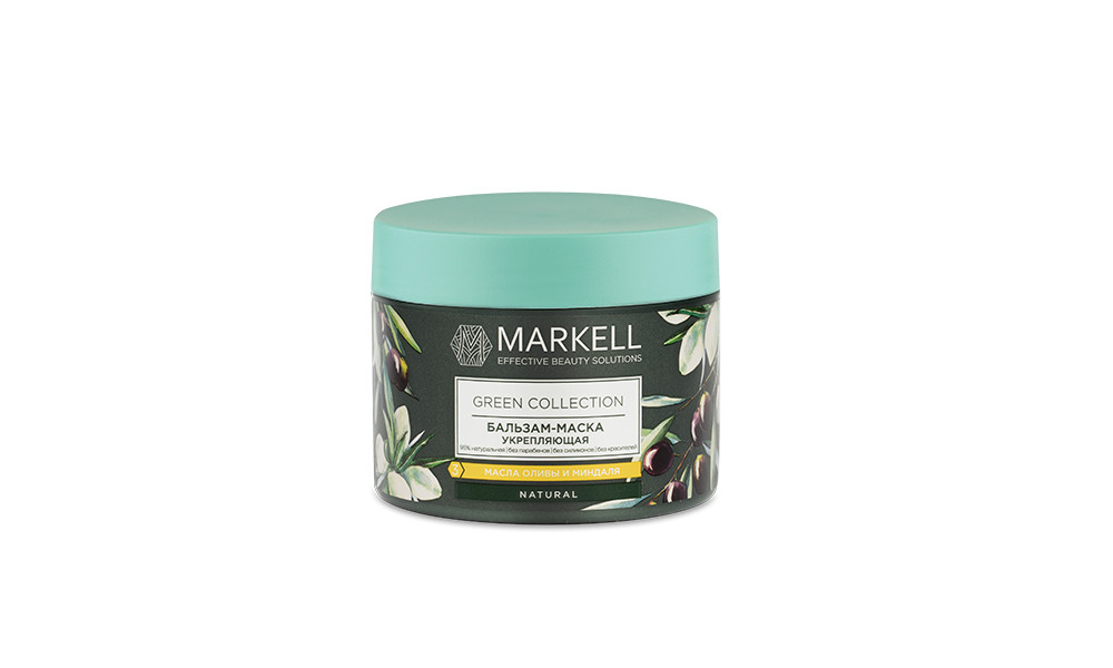 Бальзам-маска для волосся Markell Green Collection зміцнююча, 300 мл арт. 17163
