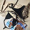 Купальник роздільний штроками чорний колір розмір S УКРАЇНА, фото 2