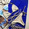 Купальник раздельный шторками песочный цвет размер S УКРАИНА, фото 2