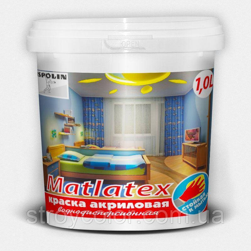 Фарба акрилова водоемульсійна Matlatex Ispolin 14кг - 10л (Інтер'єрна фарба Велетень)