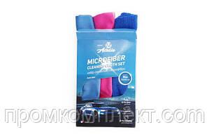 Набор салфеток из микрофибры универсальный 30х40 см (синяя, розовая, голубая) 12 Atelie