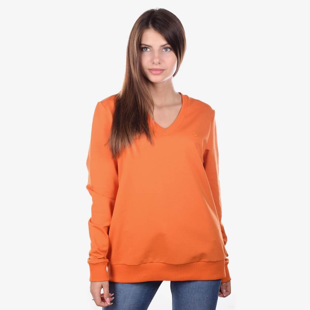 Свитшот женский COLORS оранжевый