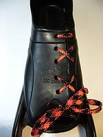 Расшивка калоши под шнуровку