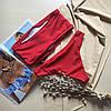 Купальник роздільний Пенні ліф бандо червоний колір розмір S УКРАЇНА, фото 2