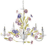 Люстра с цветами и листочками SLAVIA SA019/5 потолочная подвесная