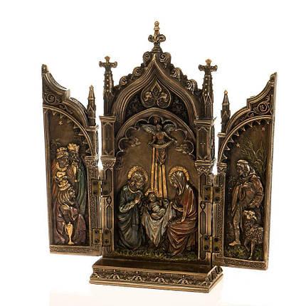 Статуэтка Икона 2х створчатая, складень Veronese 22х11 см 76727 триптих веронезе, фото 2