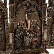 Статуэтка Икона 2х створчатая, складень Veronese 22х11 см 76727 триптих веронезе, фото 3