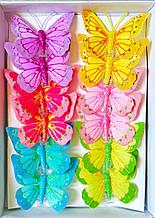 Метелики з пір'я 18 см